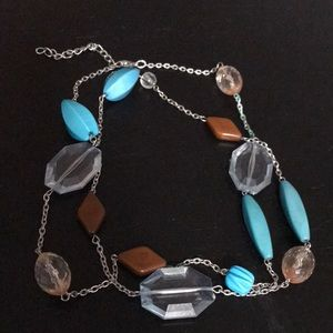 Jewelry - Blue/brown stone fashion jewelry necklace